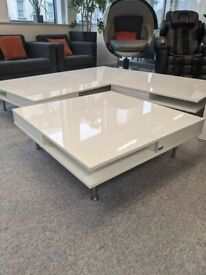 FREE SAME-DAY DELIVERY - IKEA TOFTERYD Coffee Table, High-Gloss White 95x95cm