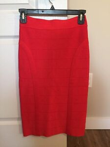 Xs red pencil skirt