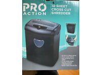 pro action 10 sheet cross cut shredder