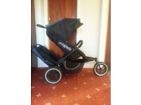Phil and Teds sport double pushchair including double rain cover, seat liners,inner tube for wheel.