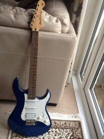 Yamaha Pacifica Electric Guitar and Guitar Bag and Yamaha Amplifier