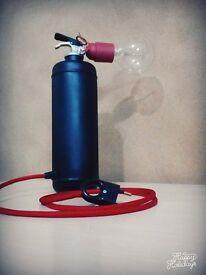 Fire extinguisher industrial light