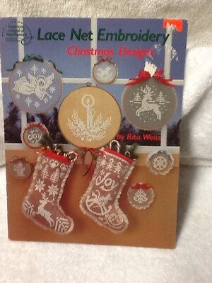 Lace Net Embroidery Christmas Designs Tree Skirt Rita Weirs 1984 Vintage Crafts