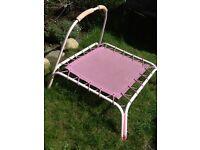 Pink trampoline