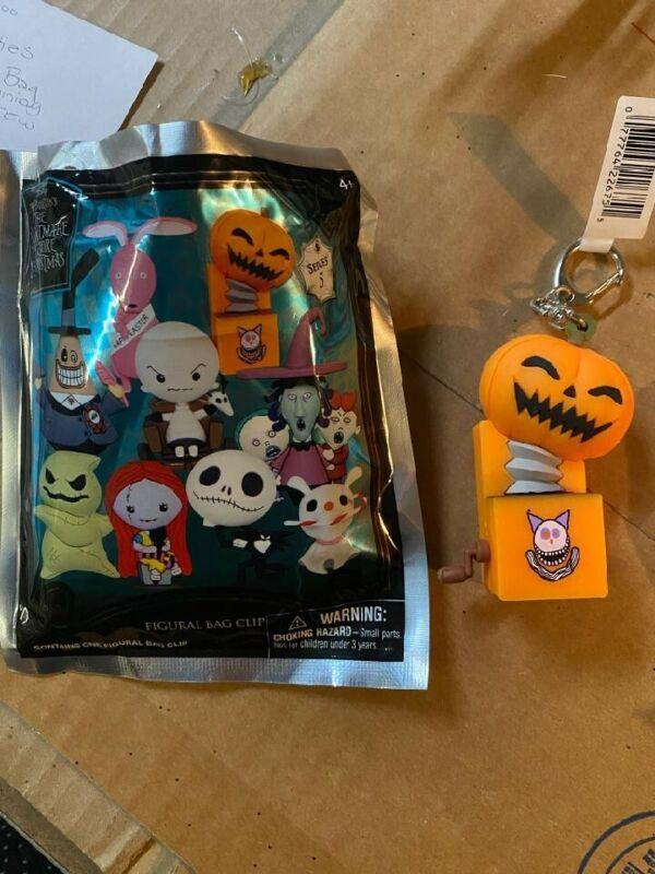 Nightmare Before Christmas Figural Bag Clip Series 5 Pumpkin Figure NEW