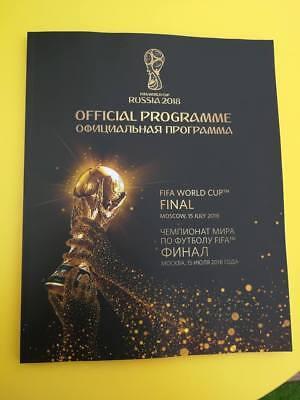 OFFICIEL PROGRAMME WORLD CUP FINALE 2018 - FRANCE - CROATIE