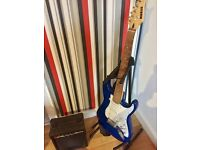 Marlin Electric 6 string Guitar, Stand & Amp.