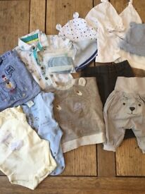 0-3 month baby boy clothing bundle