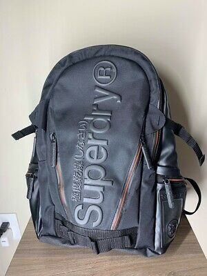 SuperDry Backpack (Orange/Black) *USED*