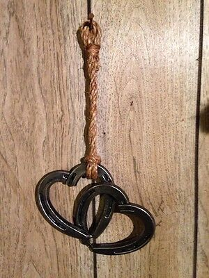 Beautiful Horseshoe Double Linked Heart Western Decor