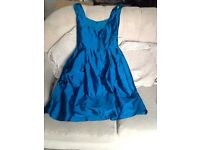 4 Beautiful teal blue dresses sizes, 6x3 and 10x1, used but in good condition