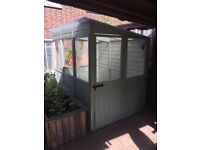 Wooden Potting Shed Greenhouse with Polycarbonate Windows & Roof Great Condition
