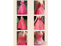 Size 10 coral/pink prom dress