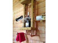 Handmade Rustic wine rack