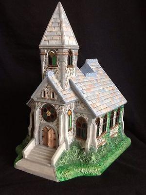 PartyLite Olde World Village Church Chapel  Tea Light Candle House  P7321