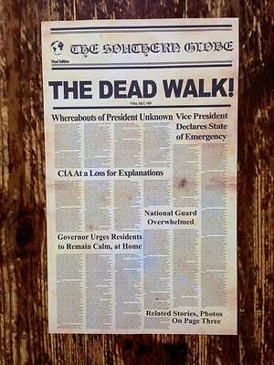 Day of the Dead - Replica Newspaper Halloween Prop - A3 poster - Romero - Horror Movie A Day Halloween