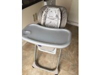 Chicco polly high chair. Loads of options of the positions also including the instruction book