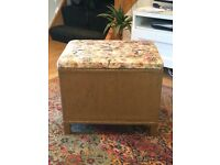 Original 1950s ottoman storage blanket box lloyd loom style