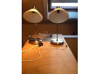 Table lamps,with ceramic shades