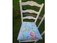 REVAMPED STUNNING EDWARDIAN LADDER BACK COUNTRY CHAIR SHABBY CHIC