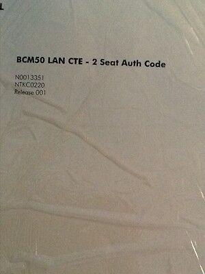 Nortel Bcm 50 Lan Cte - 2 Seat Authorization Key-code License - Ntkc0221