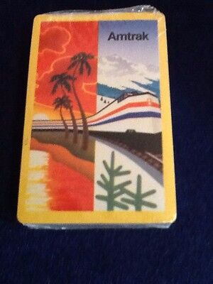 VINTAGE AMTRAK RAIL ROAD PLAYING CARDS NEW UNOPENED SEALED IN CELLO