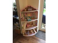 4 Storey Dolls House, with accessories - good condition