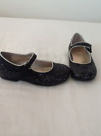 M&S BLACK SPARKLE HEELED SHOES SIZE 9 PERFECT CONDITION WORN ONLY ONCE