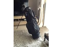 Set of Mens Ping Zing 2 Golf Clubs with new bags with built in stand