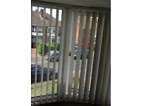 Vertical Blinds - Cream to fit 2 bays and 1 small window