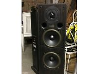 3 ACOUSTIC ENERGY SPEAKERS 100 SERIES PLUS 2 REAR SPEAKERS