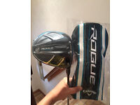 BRAND NEW! Callaway Rogue driver, upgraded Synerg Stiff Shaft 10.5 degrees