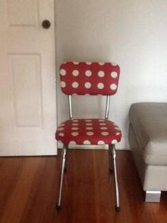 4 retro newly upholstered kitchen chairs East Melbourne Melbourne City Preview