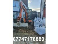 Digger With Driver , 2.7ton Micro Mini Very Skilled Driver , Excavation Experts