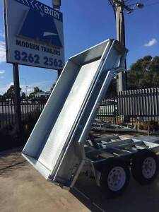 10x5 GALVANIZED HYDRAULIC ELECTRIC TANDEM TIPPER TRAILER Adelaide Region Preview