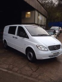 2009 Mercedes Vito 109 Cdi compact 7 seater day van px welcome