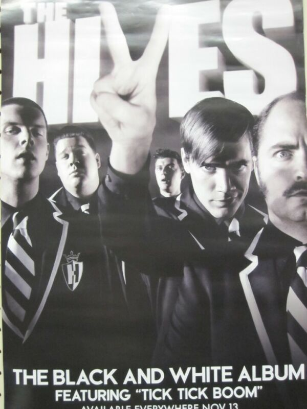THE HIVES 2007 Black&White Album promotional poster Flawless New Old Stock