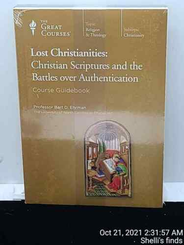 Great Courses Lost Christianities Prof Bart D Ehrman Book & DVD (Christianity)