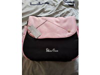 Vintage Pink Silver Cross Changing Bag Brand new