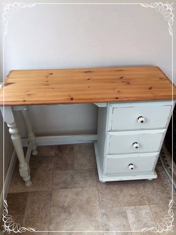 Shabby chic pine Laura Ashley painted desk/dressing table