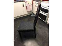 Next Black High Back Chairs