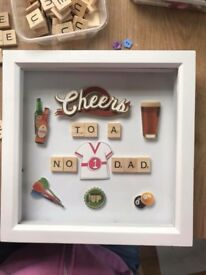 Father's Day scrabble picture frames