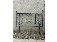 Metal double bed headboard as new