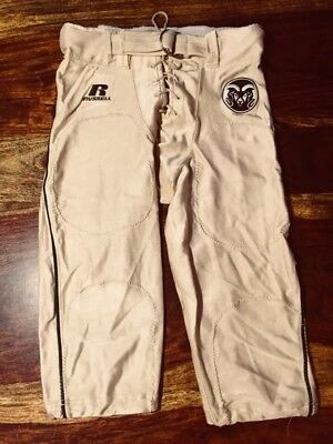 Colorado State University Rams Gold Green Football Pants game Worn Russell