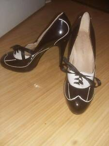 Zoe Wittner Designs black and white brogue style heels Beaconsfield Fremantle Area Preview
