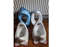 Various Potties and Toilet Seats