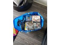 83 DVDs, a broad mixture of kids, comedies, classics etc. And 26 CDs. Perfect for a carboot sale