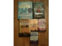 6 Dan Brown Books - Infernio, The Da Vinci Code, Angels & Demons : Illustrated Collector's edition