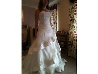 A line beaded wedding dress size 12