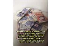 ALL CARS VANS BIKES WANTED! CASH ON COLLECTION